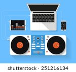 flat design vector illustration ... | Shutterstock .eps vector #251216134