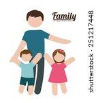 family silhouette design ... | Shutterstock .eps vector #251217448