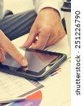 closeup of a young businessman...   Shutterstock . vector #251226790