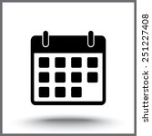 calendar sign icon  vector... | Shutterstock .eps vector #251227408