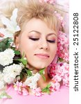 beautiful woman face in spring... | Shutterstock . vector #25122808