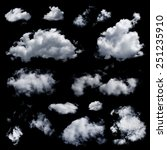 set of multiple clouds and... | Shutterstock . vector #251235910