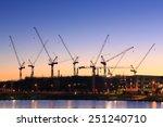 Many Cranes At Australian...