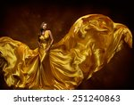 woman gold dress  lady in... | Shutterstock . vector #251240863