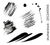 black strips | Shutterstock . vector #251245543