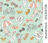 awesome seamless pattern with... | Shutterstock .eps vector #251245708