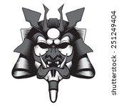 samurai mask | Shutterstock .eps vector #251249404