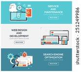 flat designed banners for... | Shutterstock .eps vector #251249986