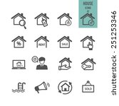 house icons. real estate....   Shutterstock .eps vector #251253346