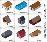 3d Isometric Farm Buildings...
