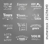 set of twelve love and care... | Shutterstock .eps vector #251256340