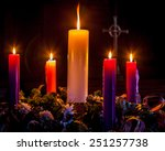 Advent Candles Glow And Mark...