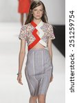 Small photo of New York, NY - September 7, 2014: Alisha Judge walks the runway at Vivienne Tam show during Mercedes-Benz Fashion Week Spring 2015 at The Salon at Lincoln Center