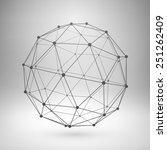wireframe mesh polygonal... | Shutterstock .eps vector #251262409