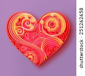 illustration of a heart made in ... | Shutterstock . vector #251262658