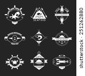 set of seafood logos. | Shutterstock .eps vector #251262880