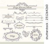 vintage design elements.... | Shutterstock .eps vector #251264260