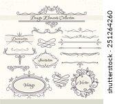 vintage design elements.... | Shutterstock .eps vector #251264260