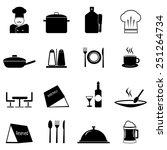 restaurant icons set  | Shutterstock .eps vector #251264734