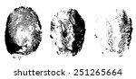 three black finger print ... | Shutterstock .eps vector #251265664