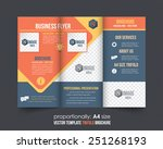 tri fold brochure and catalog... | Shutterstock .eps vector #251268193