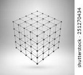 wireframe mesh polygonal... | Shutterstock .eps vector #251270434