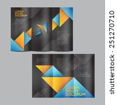 vector brochure template design | Shutterstock .eps vector #251270710