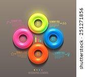 business infographics torus... | Shutterstock .eps vector #251271856