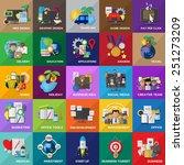 flat icons set for  web design  ... | Shutterstock .eps vector #251273209