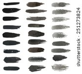 set of grungy vector hand... | Shutterstock .eps vector #251273824