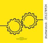 gears vector icon. concept of... | Shutterstock .eps vector #251278924