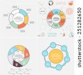 set of circular templates for... | Shutterstock .eps vector #251282650