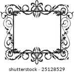Black frame - stock vector
