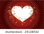 Heart frame - stock vector