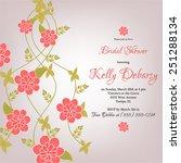 wedding invitation card | Shutterstock .eps vector #251288134