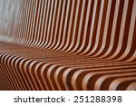 a close up of a wooden bench | Shutterstock . vector #251288398
