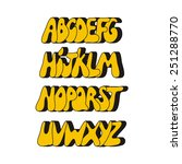 cartoon comic graffiti font... | Shutterstock .eps vector #251288770