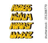 cartoon comic graffiti font... | Shutterstock .eps vector #251288770