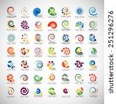 unusual spirals set   isolated... | Shutterstock .eps vector #251296276