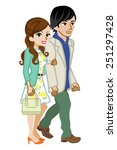couple spring fashion | Shutterstock .eps vector #251297428