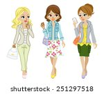 Walking Girls Spring Fashion
