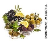 different kinds of pickled... | Shutterstock . vector #251300416