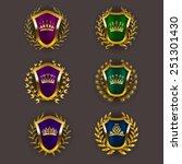 set of luxury golden vector...   Shutterstock .eps vector #251301430