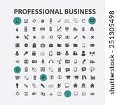 100 professional business ... | Shutterstock .eps vector #251305498