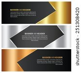 abstract gold  silver and... | Shutterstock .eps vector #251308420