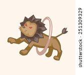 cartoon circus animal   | Shutterstock . vector #251309329