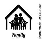 family silhouette design ... | Shutterstock .eps vector #251311000