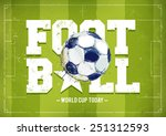 grunge football poster with...