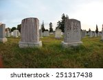 Blank Grave Stones Shot Throug...
