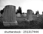 Blank Grave Stones Shot Throug...